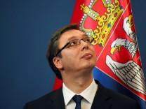 Serbiens Ministerpräsident Alexander Vucic