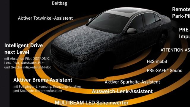 Mercedes E-Klasse 2016: Die Assistenzsysteme auf einen Blick