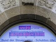 Schuldenuhr, Foto: AP