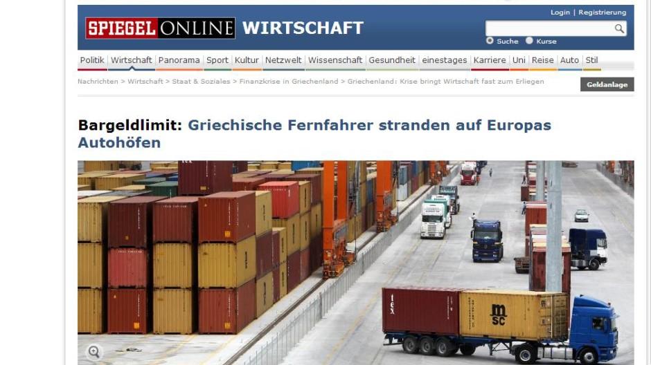 München Gestrandete Lkw-Fahrer