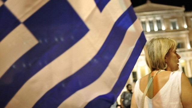 Pro Euro protest in Athens