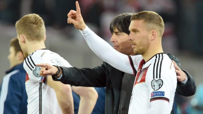 Joachim Löw und Lukas Podolski