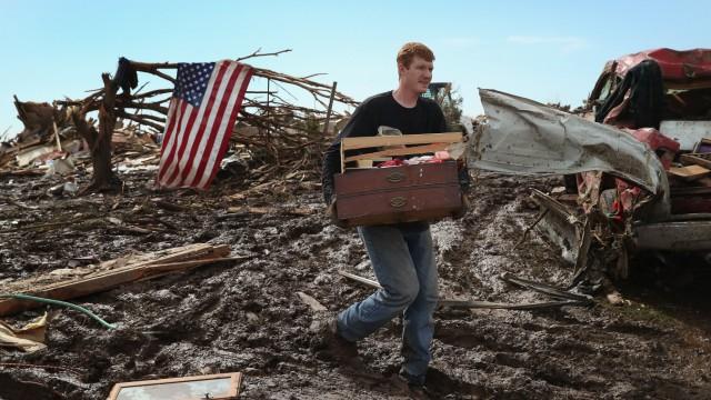 Massive Tornado Causes Large Swath Of Destruction In Suburban Moore, Oklahoma