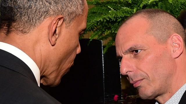 Greek Finance Minister Yanis Varoufakis in Washington