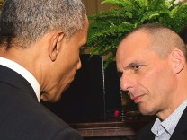 Greek Finance Minister Yanis Varoufakis in Washington