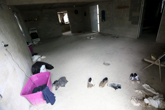 The inside of a property, where the entrance of a tunnel connected to the Altiplano Federal Penitentiary and used by drug lord Guzman to escape was found, is seen in Almoloya de Juarez