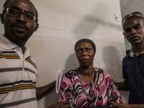Angehörige des 28-jährigen Avraham Mengistu, der seit September in Gaza verschwunden ist.