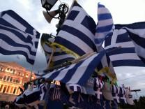 Kundgebung vor Parlament in Athen