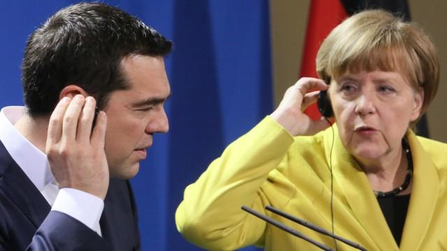 Alexis Tsipras und Angela Merkel