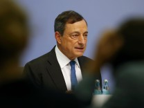 European Central Bank president Draghi addresses a news conference after a monetary policy meeting at the ECB headquarters in Frankfurt