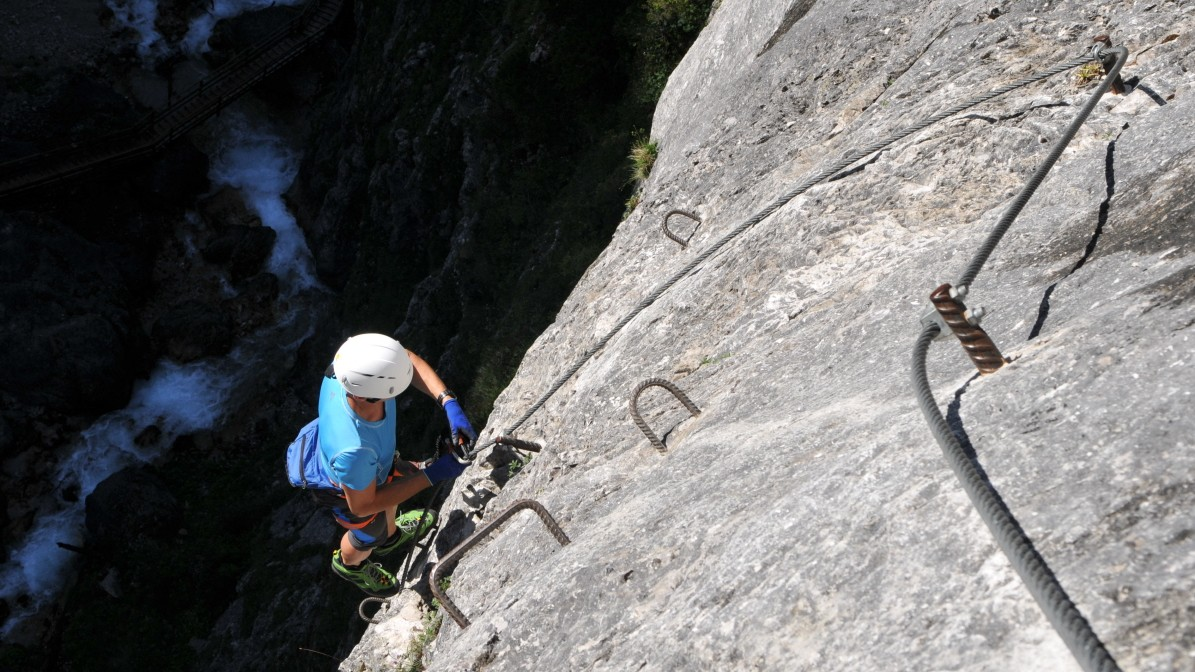 Klettersteig Fall : Klettersteige kristall klettersteig km bergwelten