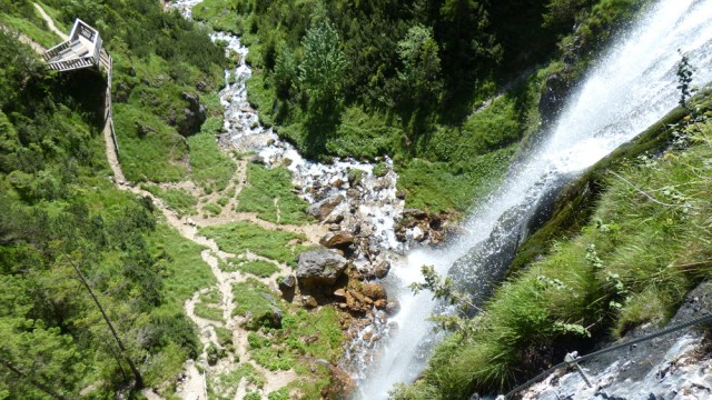 Klettersteig Achensee : Kühle klettersteige dalfazer wasserfall wasserspiele am