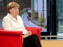 Sommerinterview mit Kanzlerin Angela Merkel