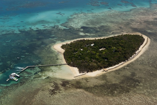 Green Island Grosses Barriere Riff Queensland Australien Aerial View of Green Island Great Barri