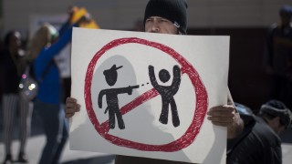 Activists Protest Police Shooting Of Homeless Man