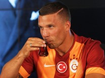 Galatasaray's new forward Lukas Podolski