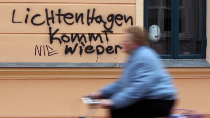 Schmiererei gegen Asylbewerberheim
