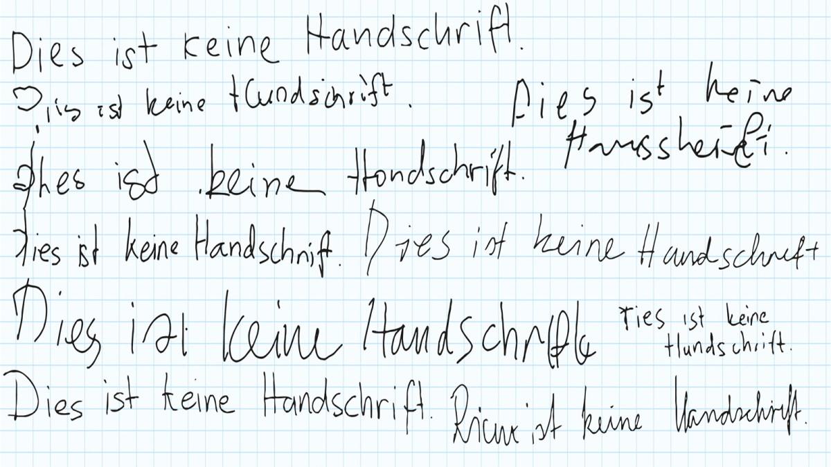 Dieser Computer schreibt in Handschrift