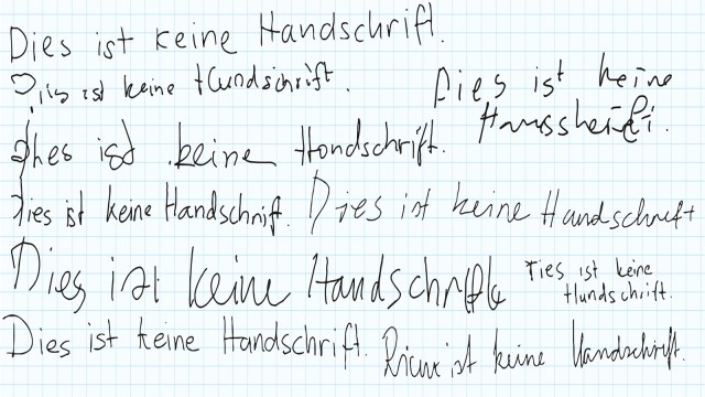 Handschrift Künstliche Intelligenz