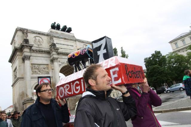 Demonstration für 'Schwabinger Sieben' in München, 2011