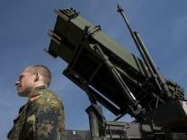 Bundeswehrsoldat in der Türkei Patriot-Raketen