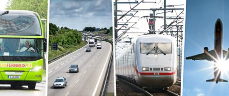 Deutsche Bahn Vergleich der Verkehrsmittel