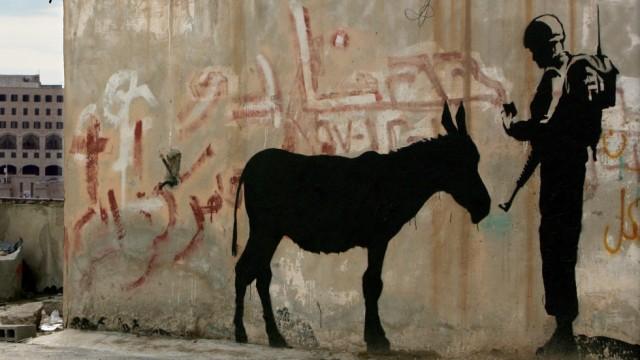 Guerilla-Künstler Banksy im Westjordanland