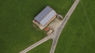 Aerial Views Of Solar Power Plant In Peiting