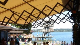 Utting: Strandbad Markise