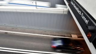 Stau am Luise-Kiesselbach-Tunnel in München, 2015