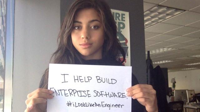 Isis Anchalee Wenger ruft per Twitter zu #Ilooklikeanengineer auf