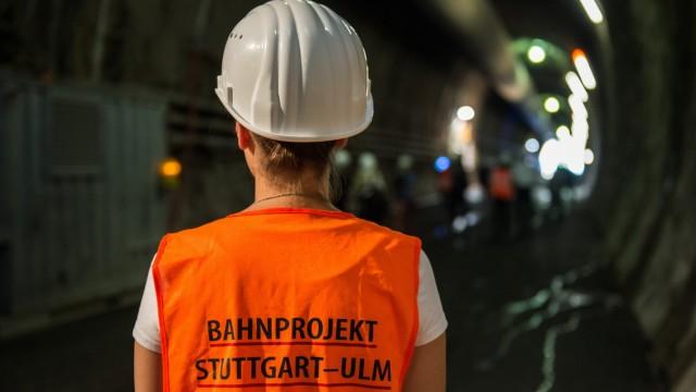 Tunnelführung auf der Stuttgart-21-Baustelle