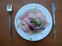 Wurst-Salat im Augustiner Keller.