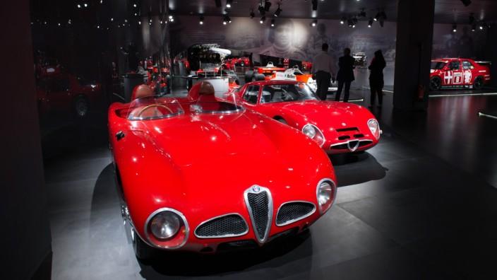 Motorsportausstellung im Alfa Romeo Museo Storico in Arese