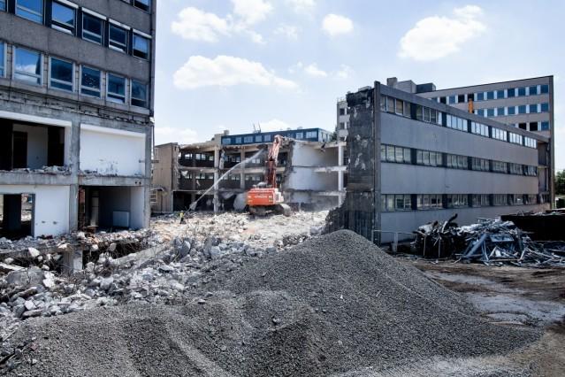 Abriss der Hochhäuser am Vogelweideplatz
