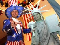 Wahlparty zur Präsidentschaftswahl in den USA im Amerika-Haus in München, 2012
