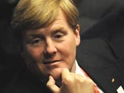 Der niederländische Prinz Willem-Alexander ; AFP