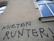 Graffiti - 'Mieten runter!'