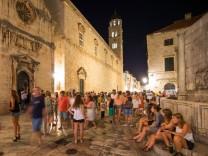Dubrovnik bei Nacht, Kroatien