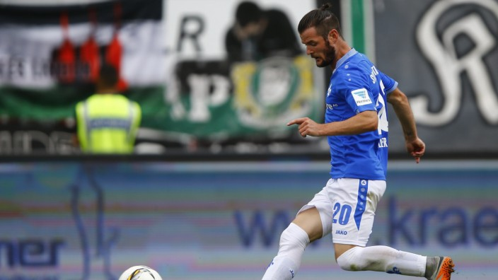 SV Darmstadt 98's Heller scores his second goal against Hanover 96 during their German first division Bundesliga soccer match in Darmstadt
