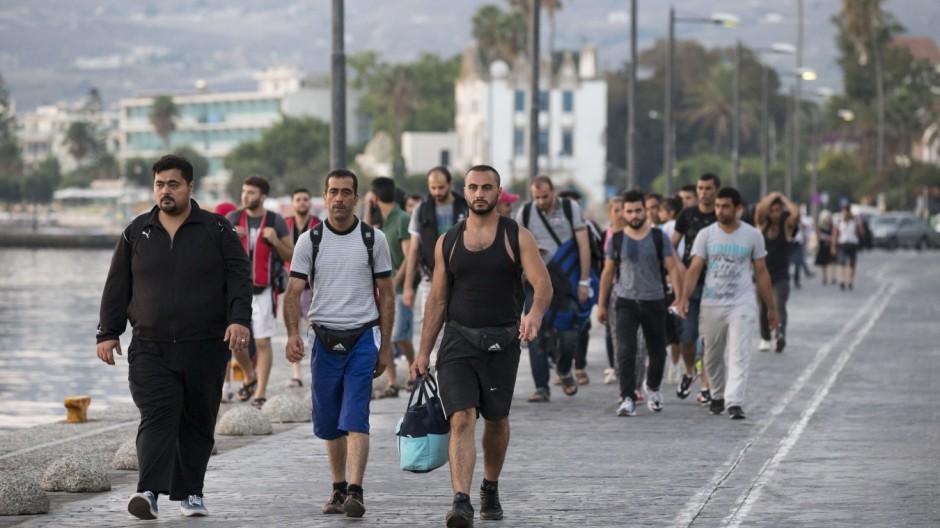Flüchtlinge Flüchtlinge auf Kos