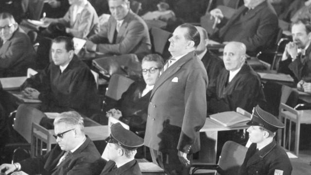 Verhandlung bei Auschwitz-Prozeß in Frankfurt, 1963