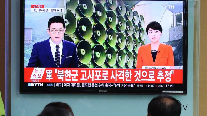 South Korea fires back dozens of shells after North Korea's shell