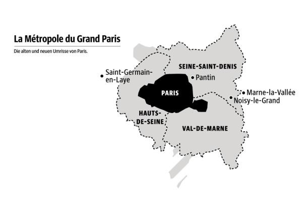 Karte Paris