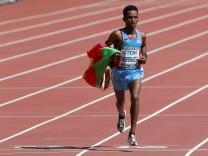 Ghirmay Ghebreslassie gewinnt bei der Leichtathletik-WM den Marathon