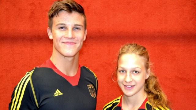 Judoka. Ellen Riesterer, Julian Gebhard