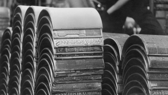 Druckplatten der Süddeutschen Zeitung, 1964