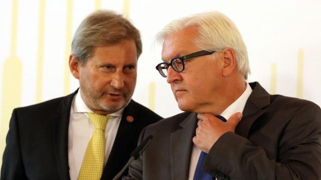 Johannes Hahn, Frank-Walter Steinmeier
