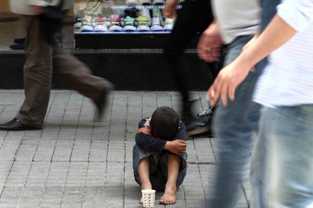 Syrian refugee in Istanbul