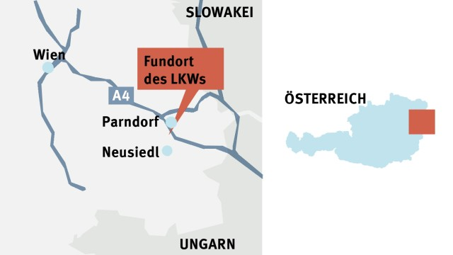 Flüchtlinge Tote Flüchtlinge in Österreich